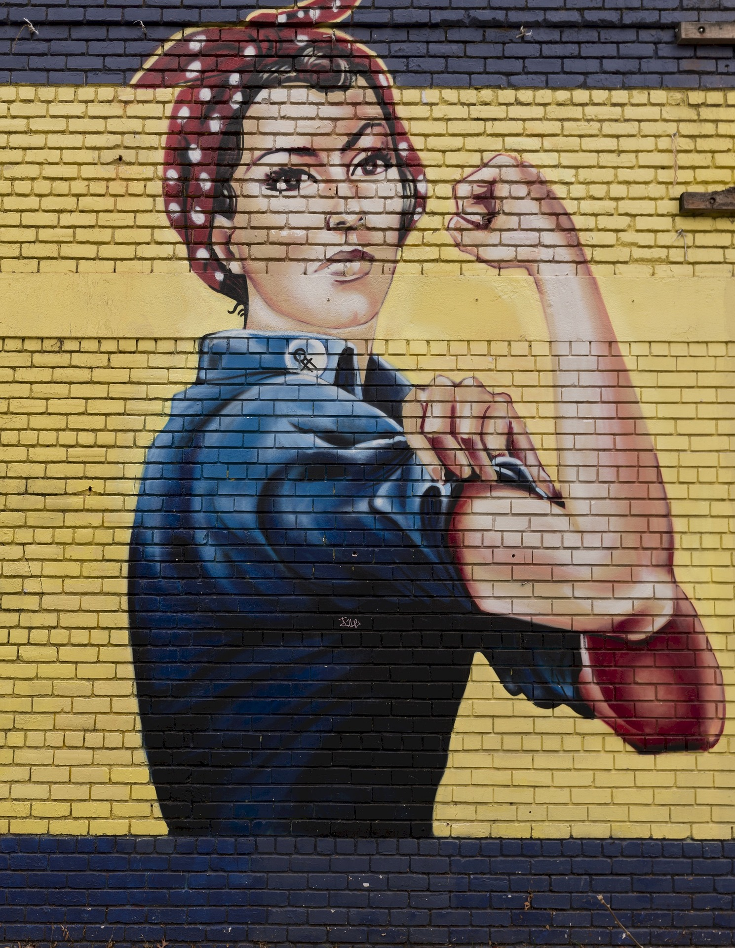 Rosie the riveter on wall